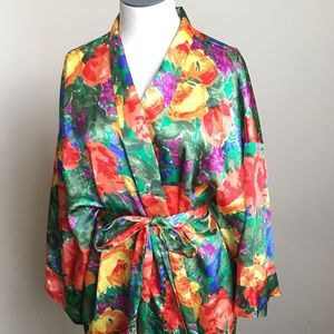 Victoria's Secret Intimates & Sleepwear - Vintage Victoria's Secret Floral Satin Robe